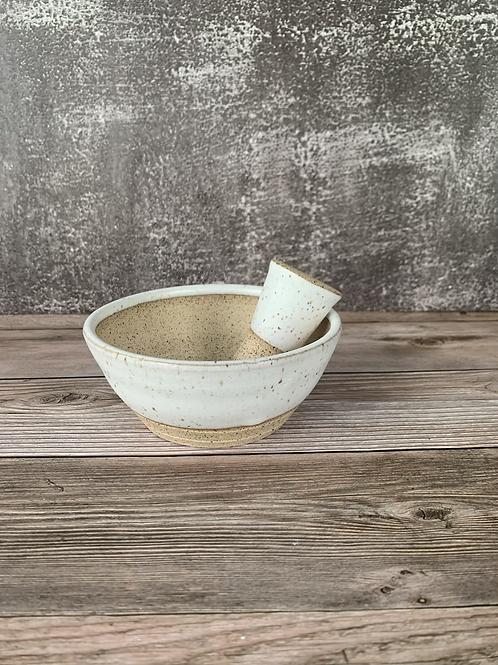 Ceramic Pestle and Mortar