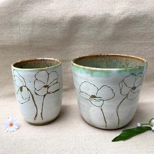 Handmade Ceramic Vases - Set of 2