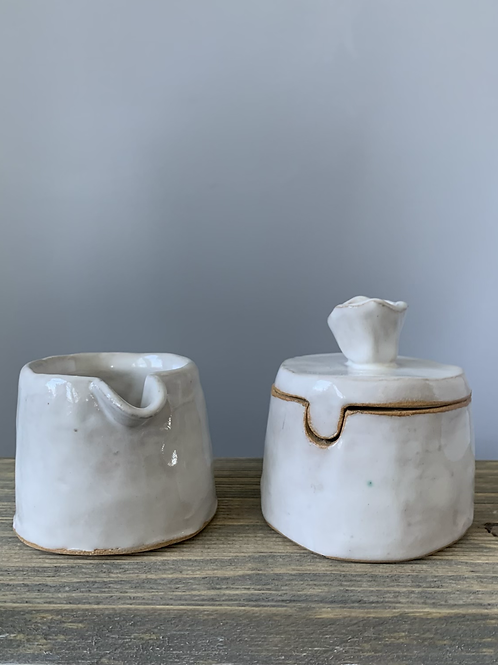 Ceramic Cream & Sugar Set
