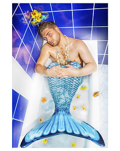 Mermaid-in-bathroom