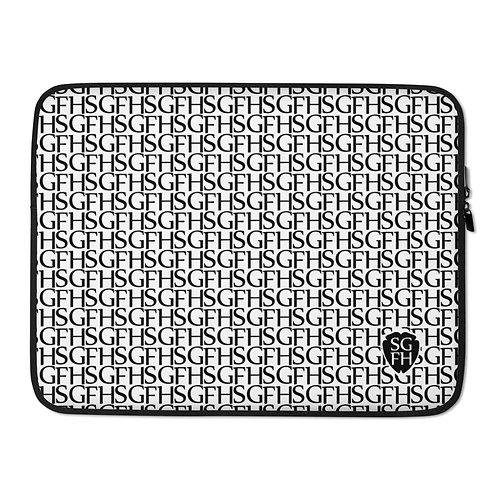 Saint George Fashion House Logo White and Black Laptop Sleeve