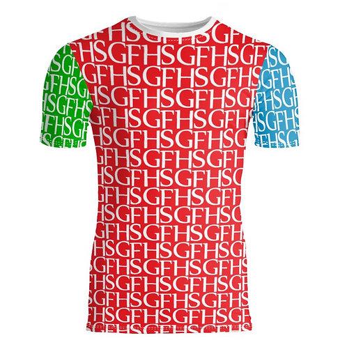 Saint George Fashion House Signature Print Multi Colour Bespoke Fitted T-Shirt