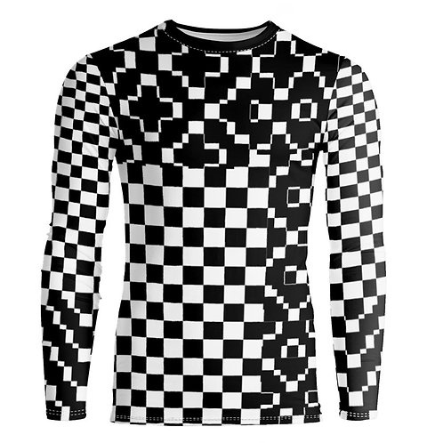 Saint George Fashion House Checked Black/White Bespoke Long Sleeve Shirt