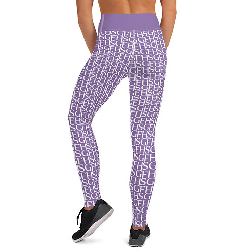 Saint George Fashion House Purple Logo Yoga Leggings