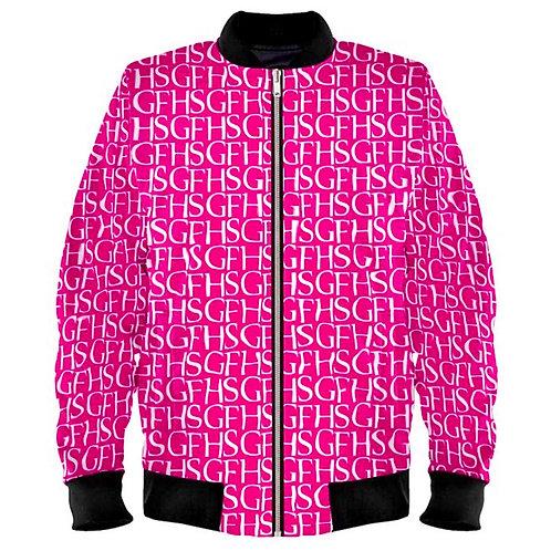 SGFH Logo Pink Velvet Bomber Jacket