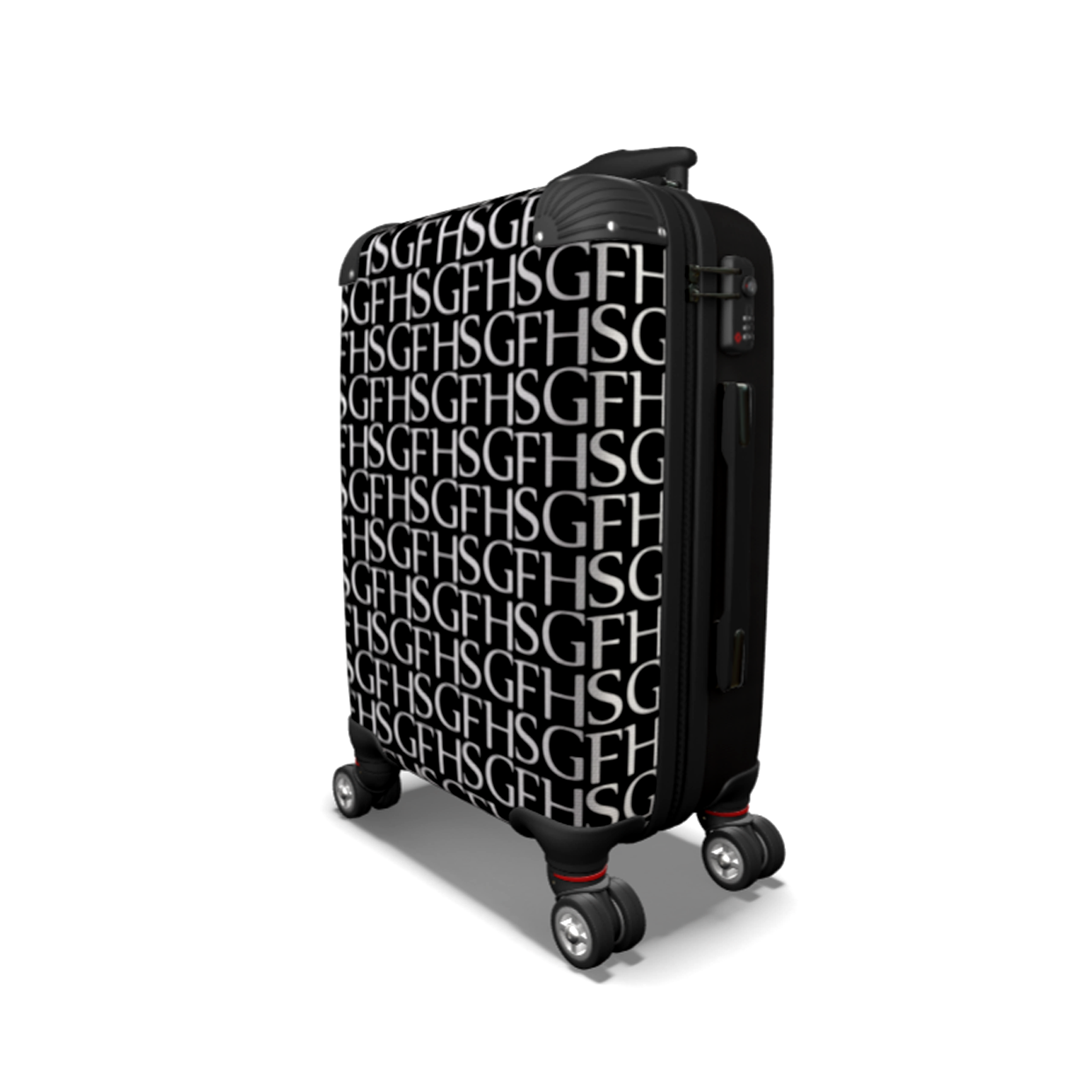 SGFH LOUD BLACK CARRY ON LUGGAGE