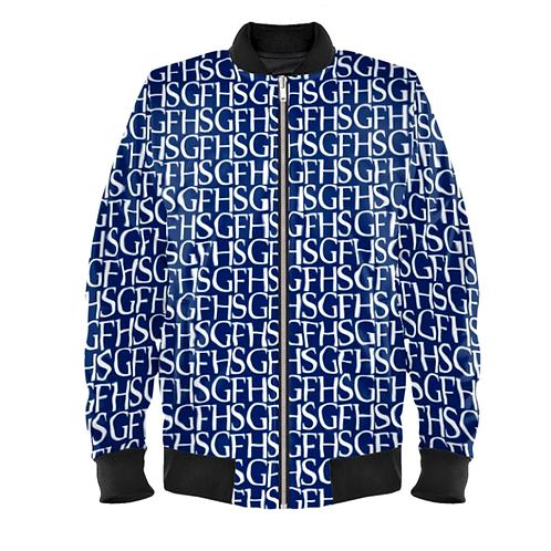 Saint George Fashion House Signature Print Navy/White Bomber Jacket