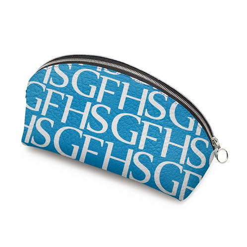 SGFH Loud Blue Leather Cosmetic Bag