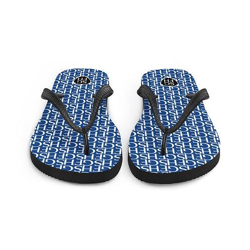 Saint George Fashion House Logo Blue Flip-Flops
