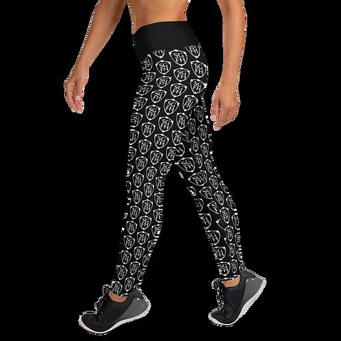 Saint George Fashion House Women's Black Shield Yoga Leggings