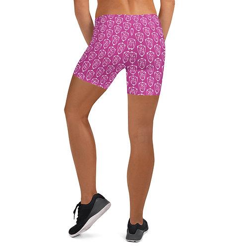 Saint George Fashion House Pink Shield Shorts
