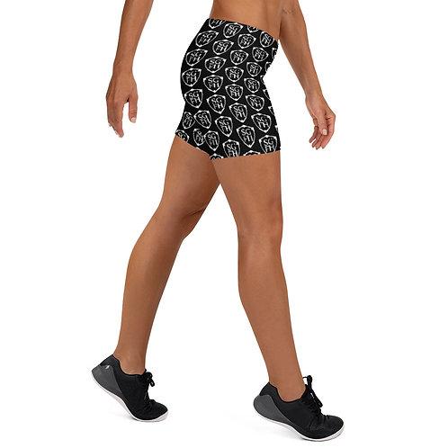 Saint George Fashion House Black Shield Shorts