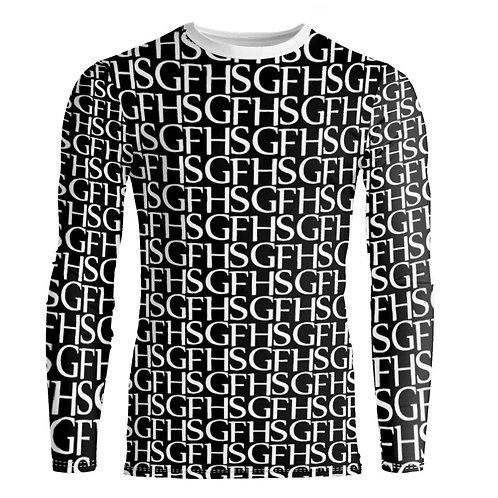Saint George Fashion House Signature Print B/W Bespoke Fitted Long Sleeve Shirt