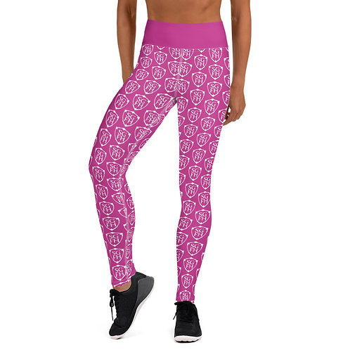 Saint George Fashion House Women's Pink Shield Yoga Leggings