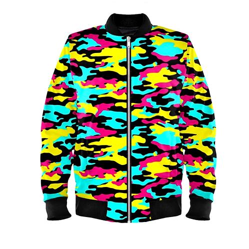 Saint George Fashion House Camouflage Bomber Jacket