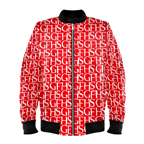 SGFH Logo Red Bomber Jacket
