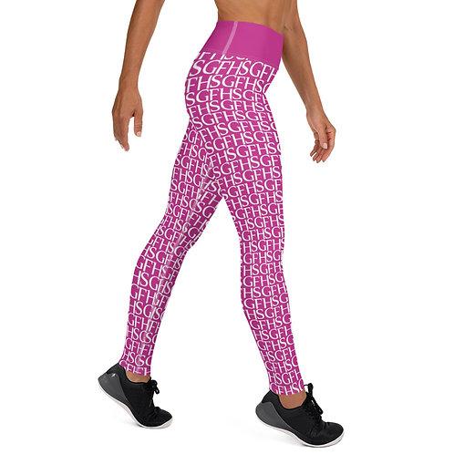 Saint George Fashion House Pink Logo Yoga Leggings