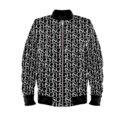 SGFH Loud Black Velvet Bomber Jacket