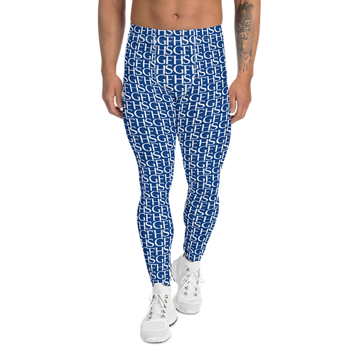 Saint George Fashion House Blue Logo Men's Leggings