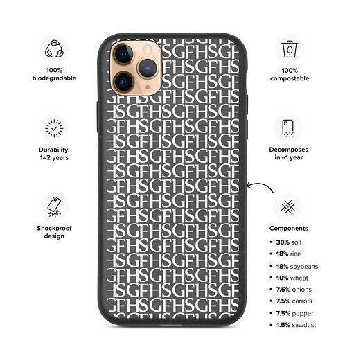 Saint George Fashion House Biodegradable Black and White Logo iPhone Case