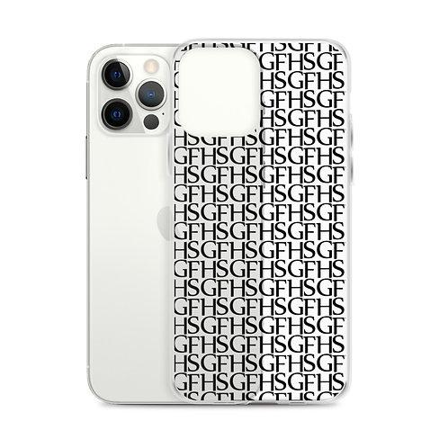 Saint George Fashion House Clear and Black Logo iPhone Case