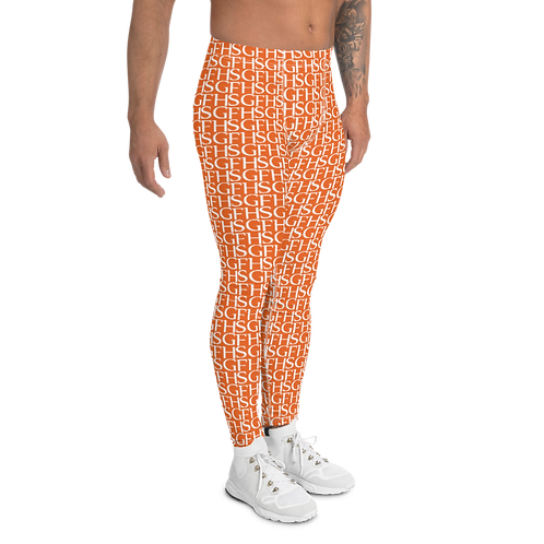 Saint George Fashion House Orange Logo Men's Leggings