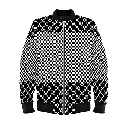 Saint George Fashion House Checked Black/White Bomber Jacket
