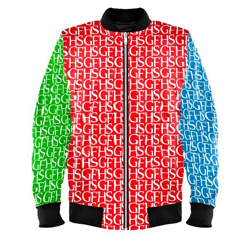 SGFH Logo Multi Colour Velvet Bomber Jacket