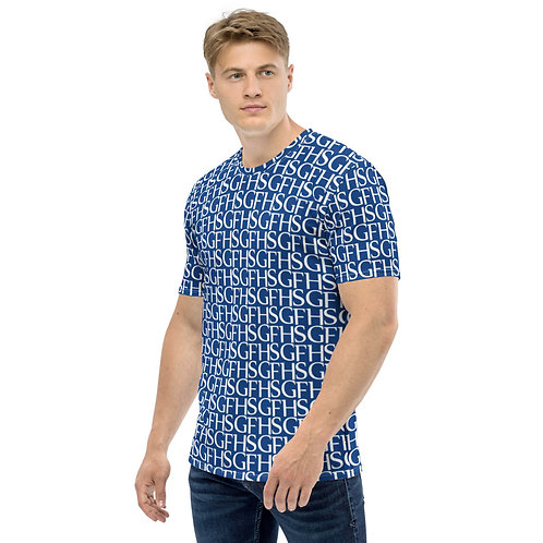 Saint George Fashion House Men's Logo Blue T-shirt
