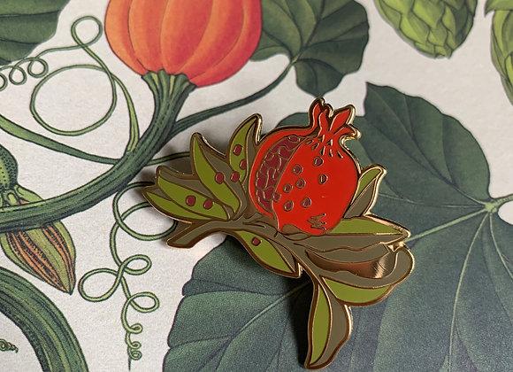Pomegranate Branch Enamel Pin
