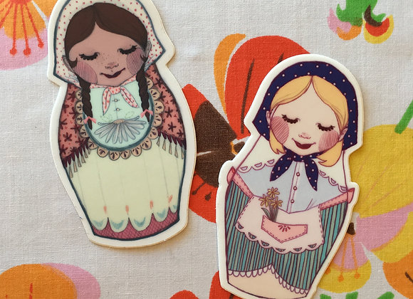 Nesting Doll Stickers