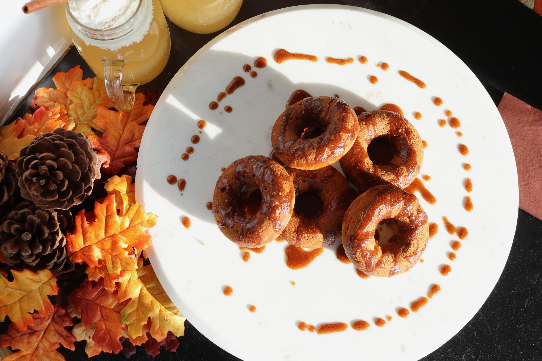Apple Cider Doughnuts with Glaze