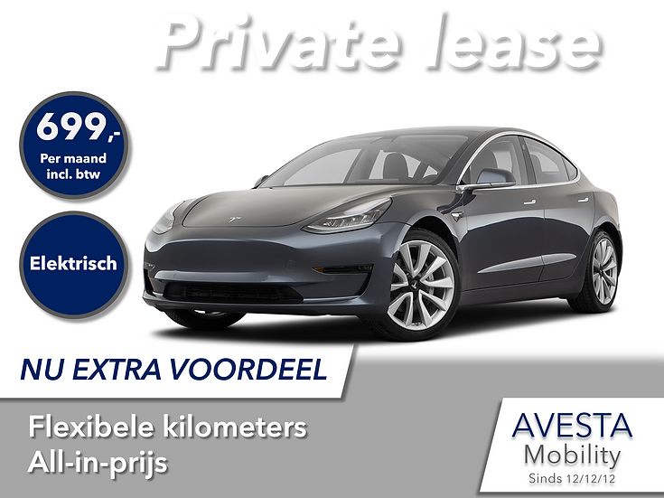 Tesla Model 3 | Private lease actie
