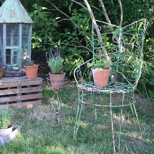 Green Wirework Garden Chair