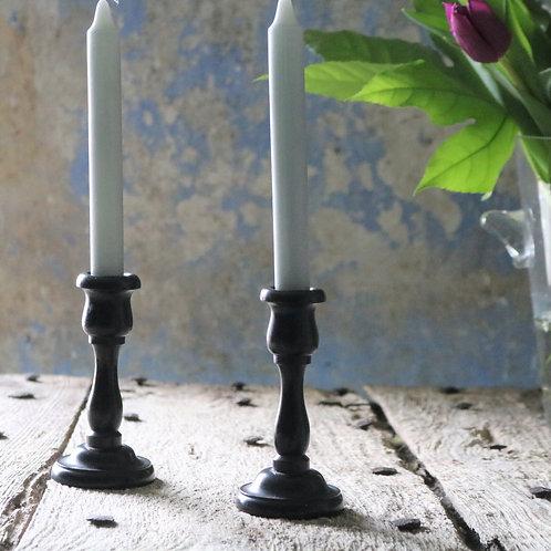 Vintage Ebony Candlesticks