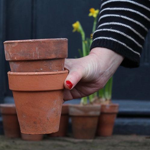 vintage terracotta plant pots
