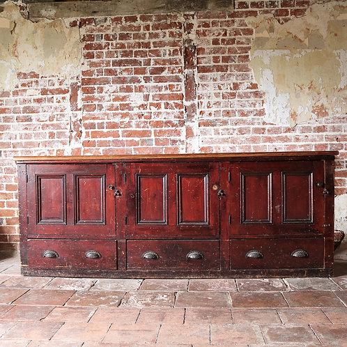 Antique Pine Shop Counter