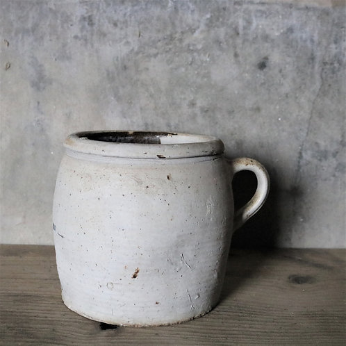 Old Rustic Hand-thrown Confit Jar