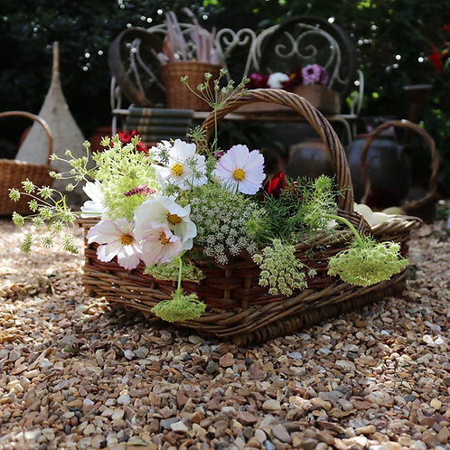 Wicker Flower Basket Trug