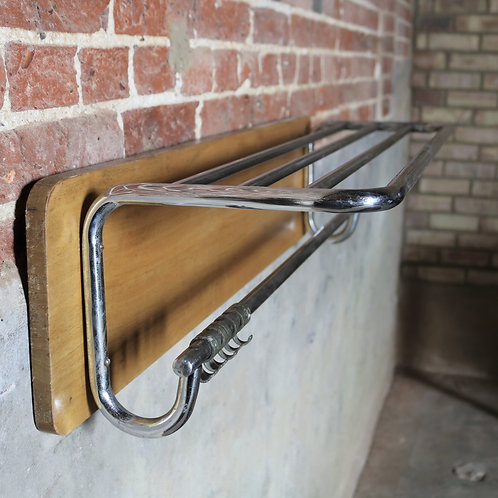Mid Century Vintage Luggage Rack Style Chrome Shelving Rack