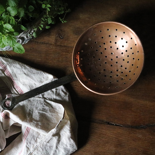 French Copper Colander