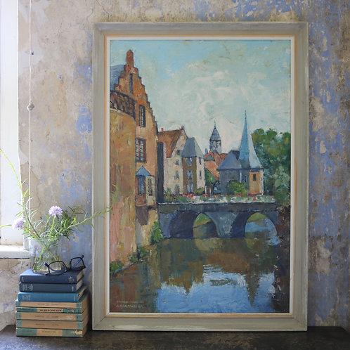 Original Oil Painting - Budingen Germany
