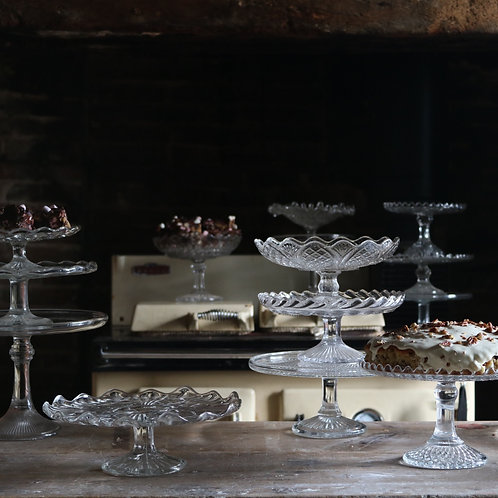 Glass Cake Stand 240mm