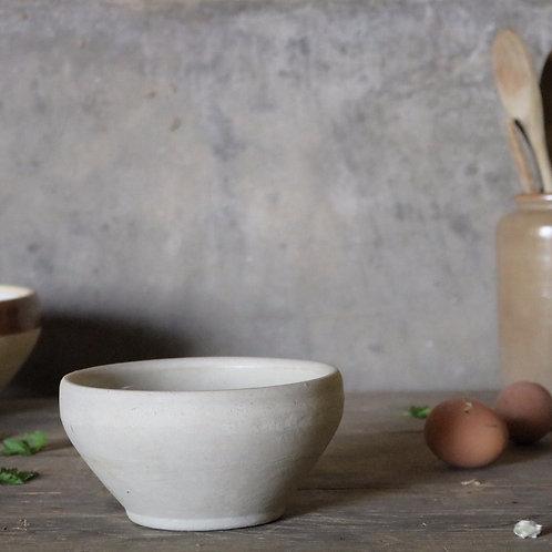 Pale Natural Vintage Stoneware Bowl
