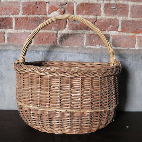 Oval Vintage Wicker Basket