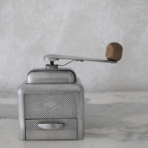 French Vintage Moulux Aluminium Coffee Grinder Mill