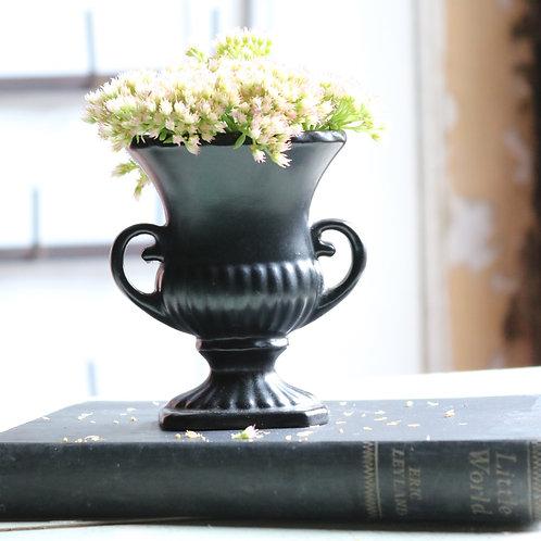 Small Black Minature Vintage Urn Flower Vase