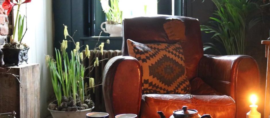 Interior Design Spotlight; Entrance/Cinema Room - Pallet Wood Shutters