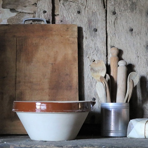 Large Vintage Dairy Bowl