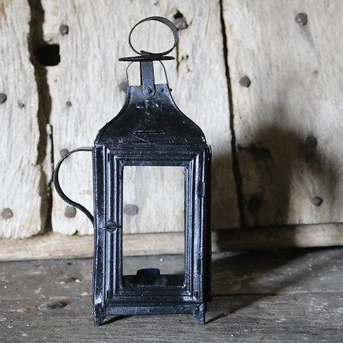 Antique French Rustic Metal Lantern
